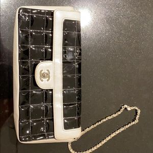 Patent Leather Chocolate Bar East/West